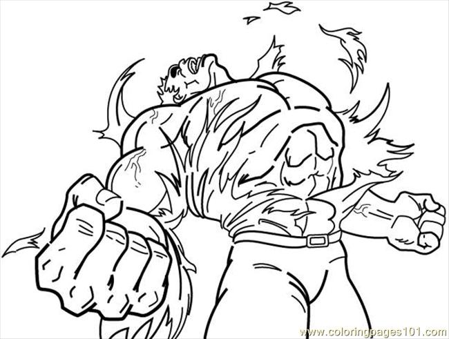 free coloring pages incredible hulk - photo#15