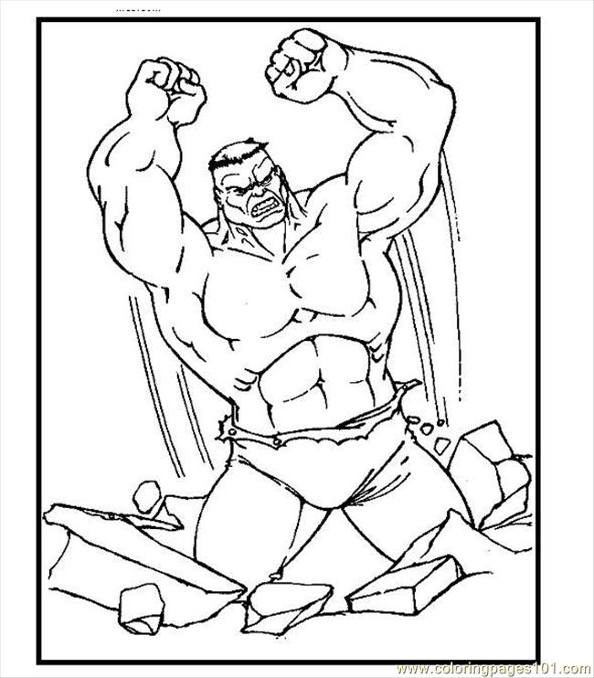 incredible hulk pintable coloring pages - photo#25