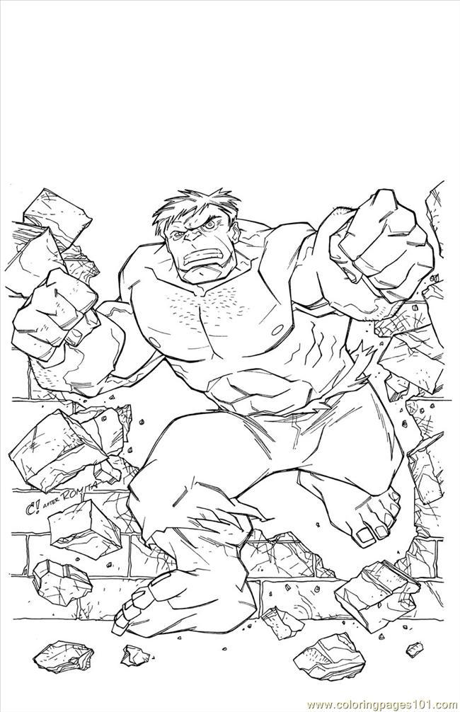 Coloring Pages Treasury Hulk Cartoons