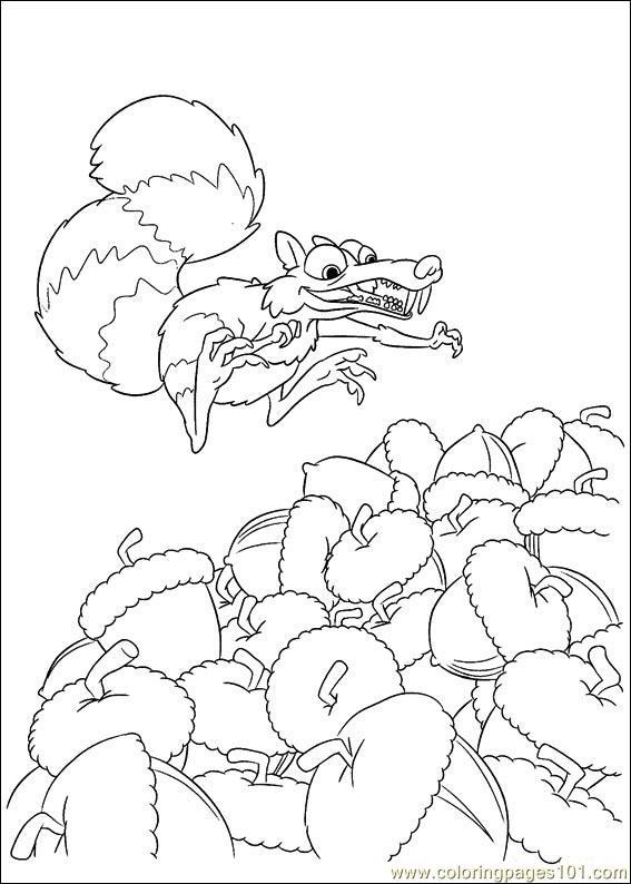 Ice Age Coloring Pages Pdf : Coloring pages ice age continental drift cartoons