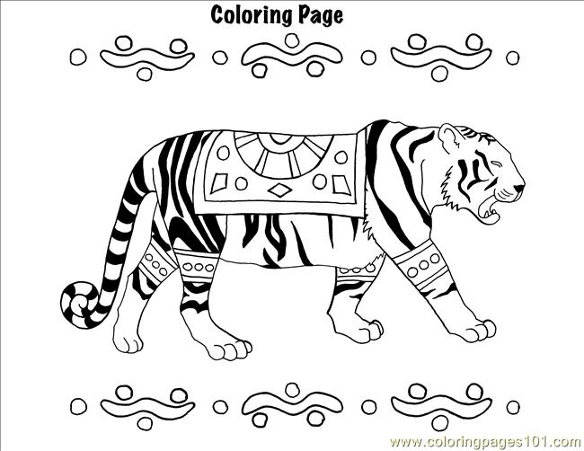 india coloring page - free geography unit study india free home school