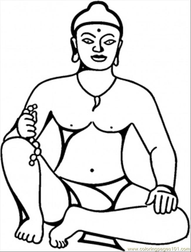 Coloring Pages Buddha Countries Gt India