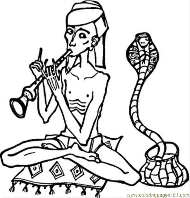 Coloring Pages Dancing Cobra Countries