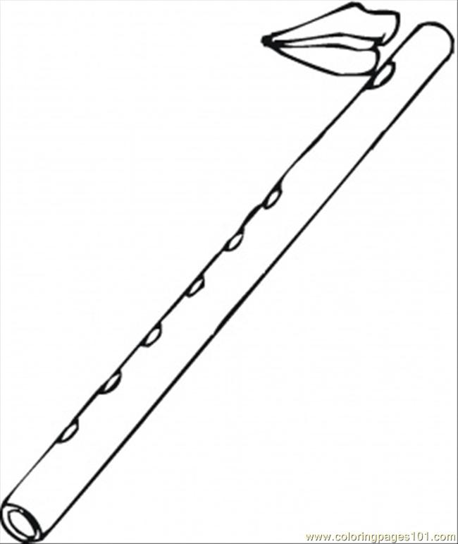 flute coloring pages - photo #22