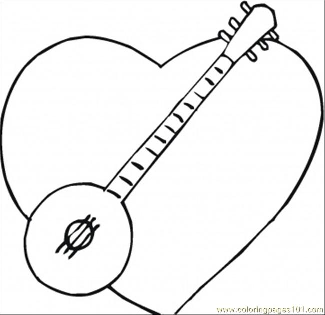 banjo coloring pages