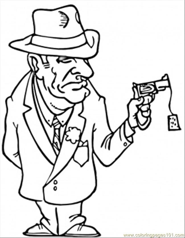Mafioso free colouring pages for Italian coloring pages