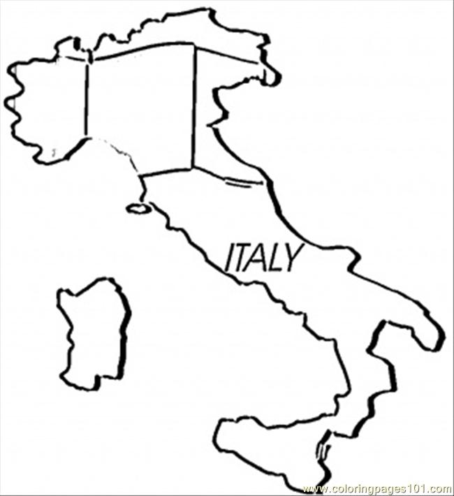 Coloring Pages Italy : Coloring pages map of italy countries gt free