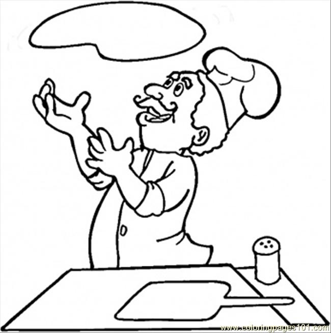 Coloring Pages In The Italian Kitchen