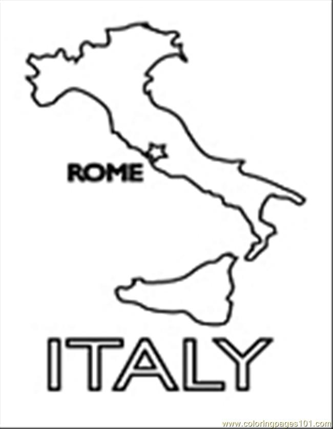 Coloring Pages Italy : I italy colouring pages