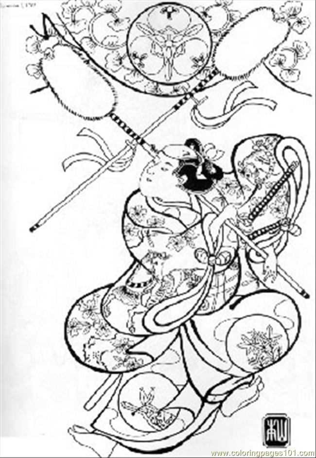 printable japanese coloring pages - photo#38