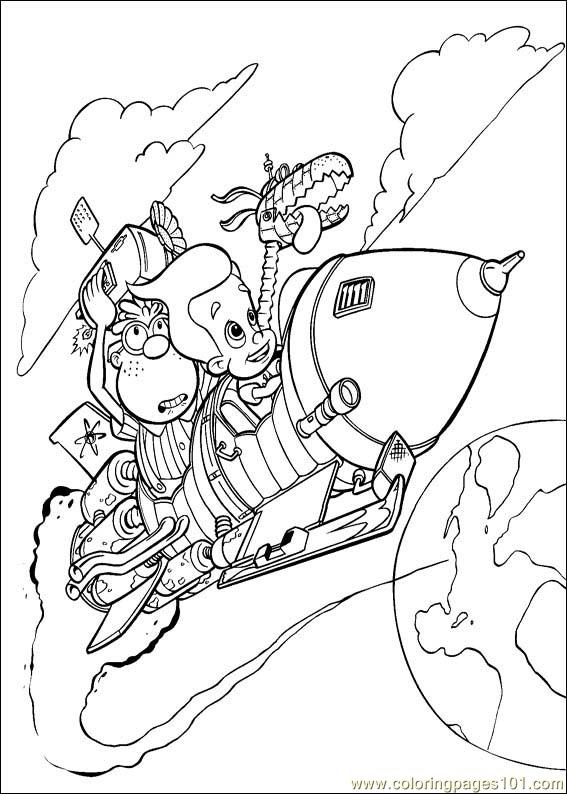 planet sheen coloring pages | Jimmy Neutron: Boy Genius Coloring Pages