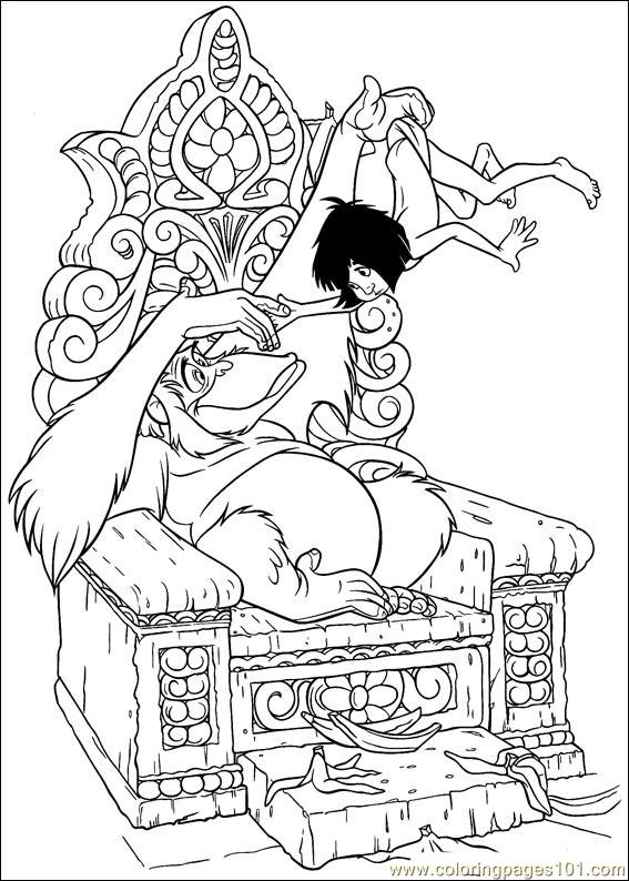 Jungle Book Coloring Pages Pdf : Coloring pages jungle book cartoons gt
