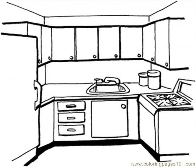 Coloring Page Kitchen Free Printable Other Gt Kitchenware