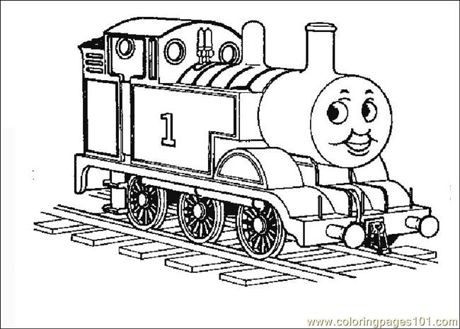 Coloring Pages Thomasthetrain 05 (Transport > Land