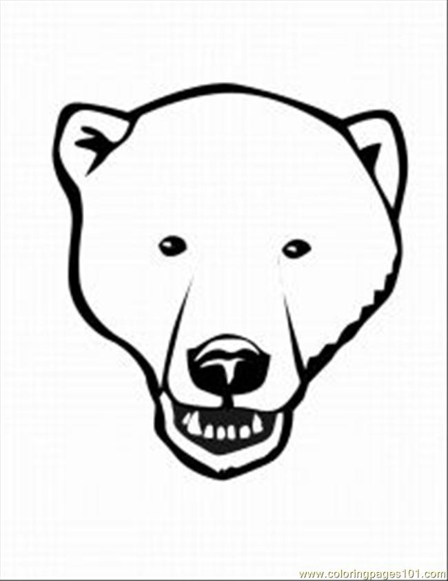 Free coloring pages of polar bear mask