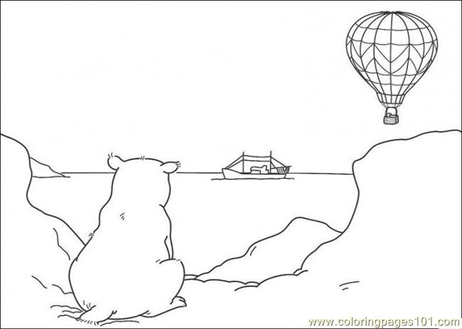 Coloring Pages Polar Bear Is Sitting