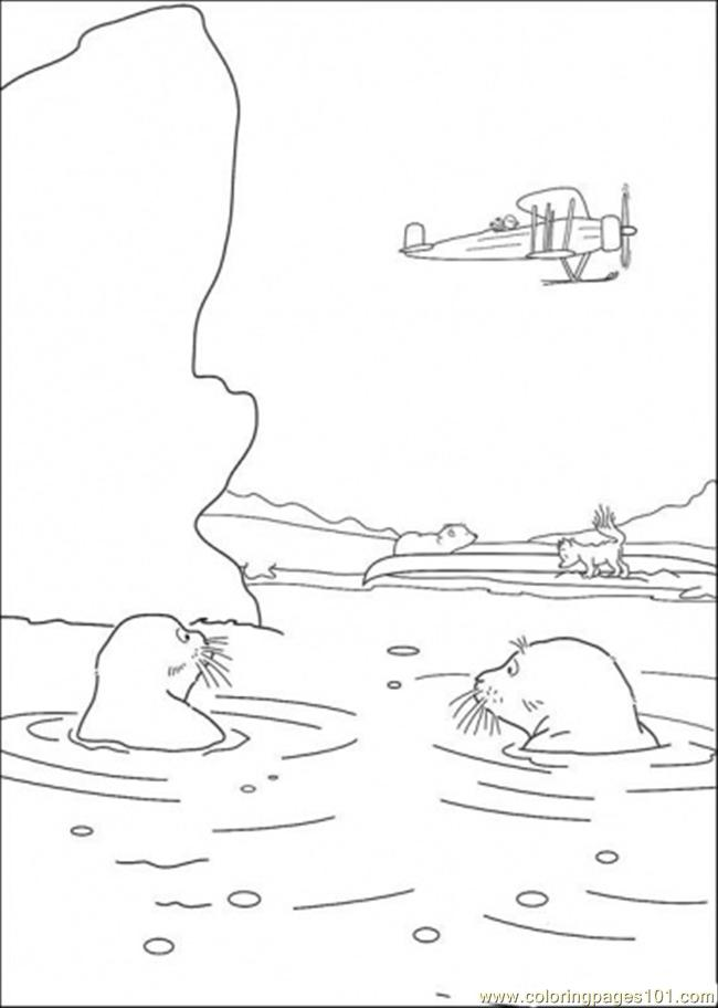 Coloring Pages The Walrus Are Swimming