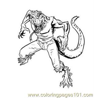 spiderman vs lizard coloring pages photo17 - Lizard Coloring Pages 2