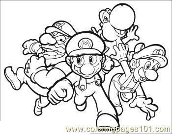 Luigi Colouring Pages Of Mario Diigo Groups
