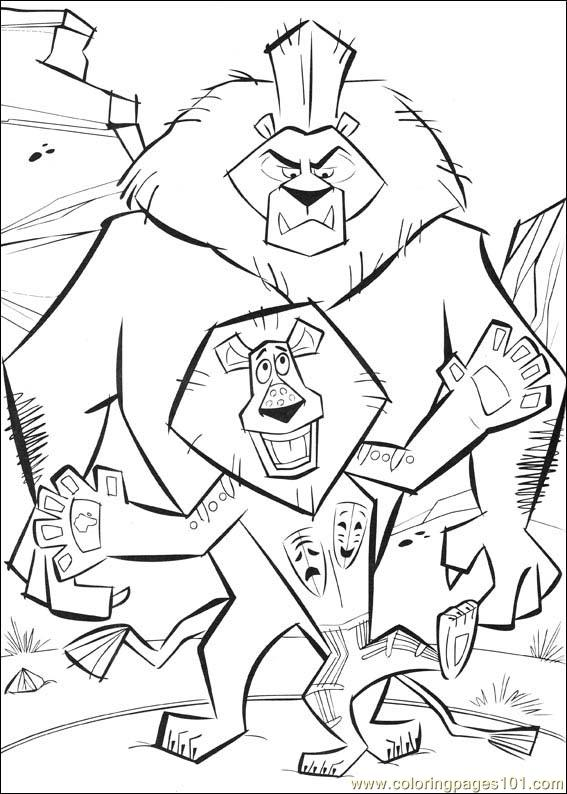 coloring pages of madagascar 2 - photo#13