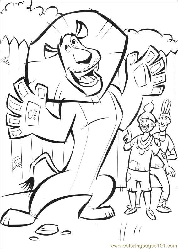 free madagascar 2 coloring pages - photo#13