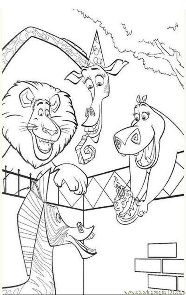 Coloring pages madagascar coloring pages 6 cartoons for Madagascar coloring pages printable