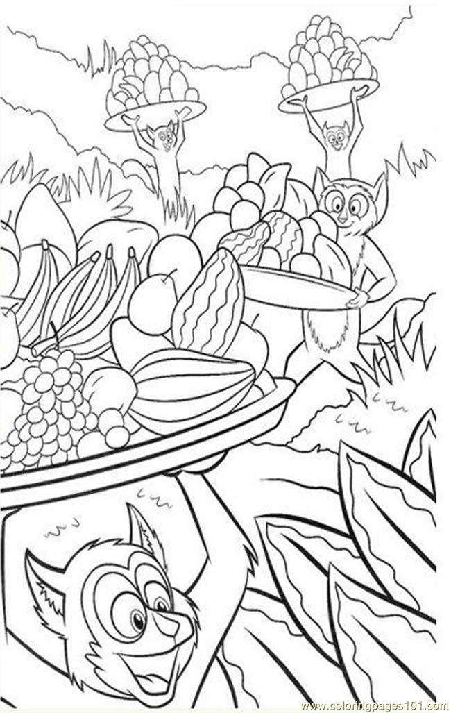 free madagascar 2 coloring pages - photo#36