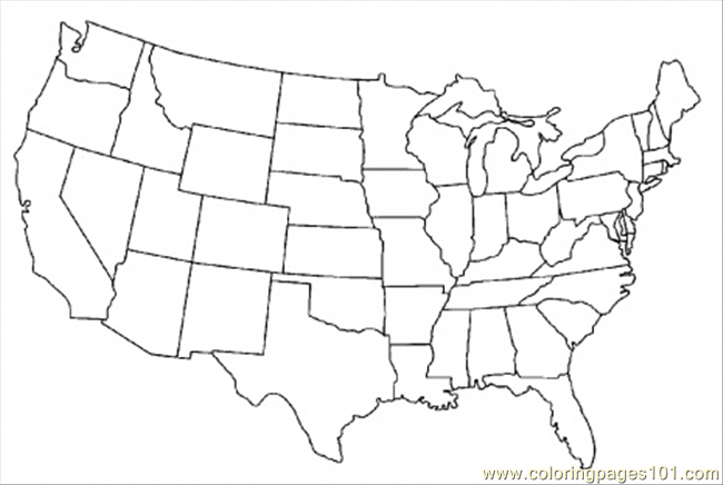Coloring pages map of united states of america education for United states coloring pages