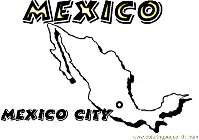 Coloring Pages Map Of Mexico Countries gt Mexico free