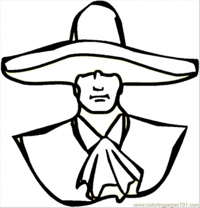 Trajes Tipicos De Mexico Para Colorear Charro. Trendy Icono De ...