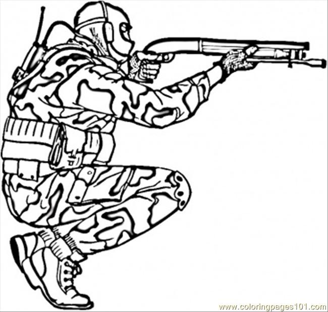 Army Men Coloring Pages 22