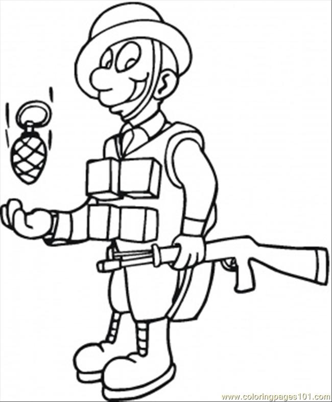 coloring pages of toy soldier - photo#34