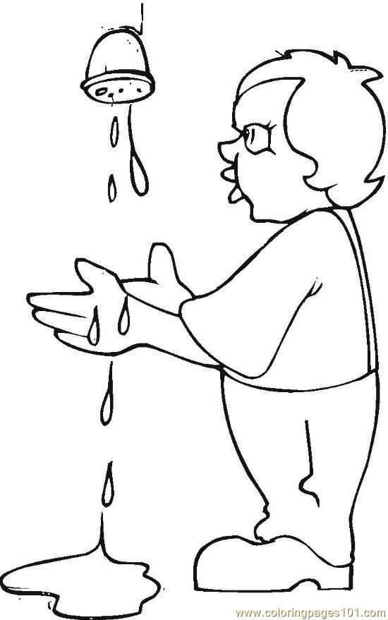 free coloring pages on hygiene - photo#25