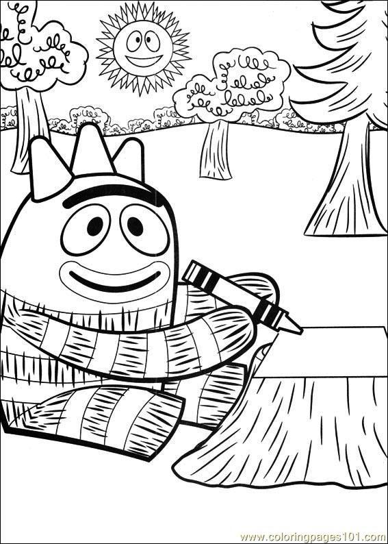 Coloring pages yo gabba gabba 04 cartoons miscellaneous for Yo gabba gabba coloring pages