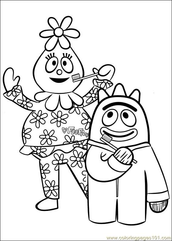 yogabbagabba coloring pages - photo #13