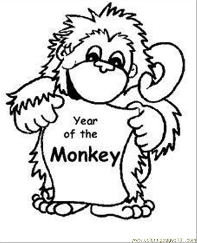 ... coloring page Aby Monkey Coloring Pages Med (Mammals > Monkey