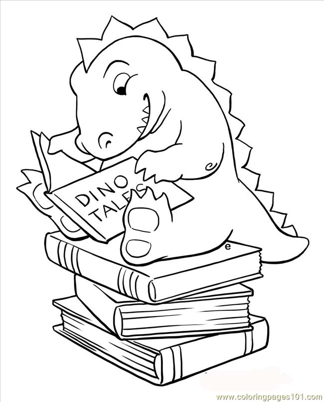 coloring pages of kids reading - photo#6