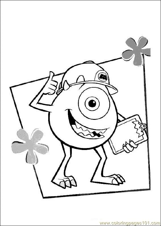 monsters inc printable coloring pages - photo#21