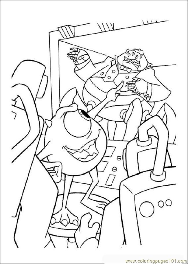 monsters inc printable coloring pages - photo#34