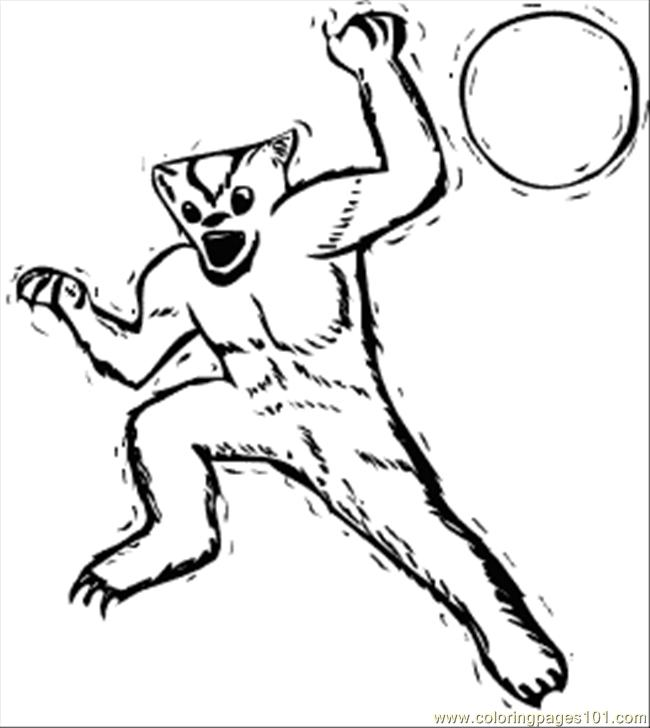 werewolf coloring pages printable - free printable coloring page werewolf cartoons monsters