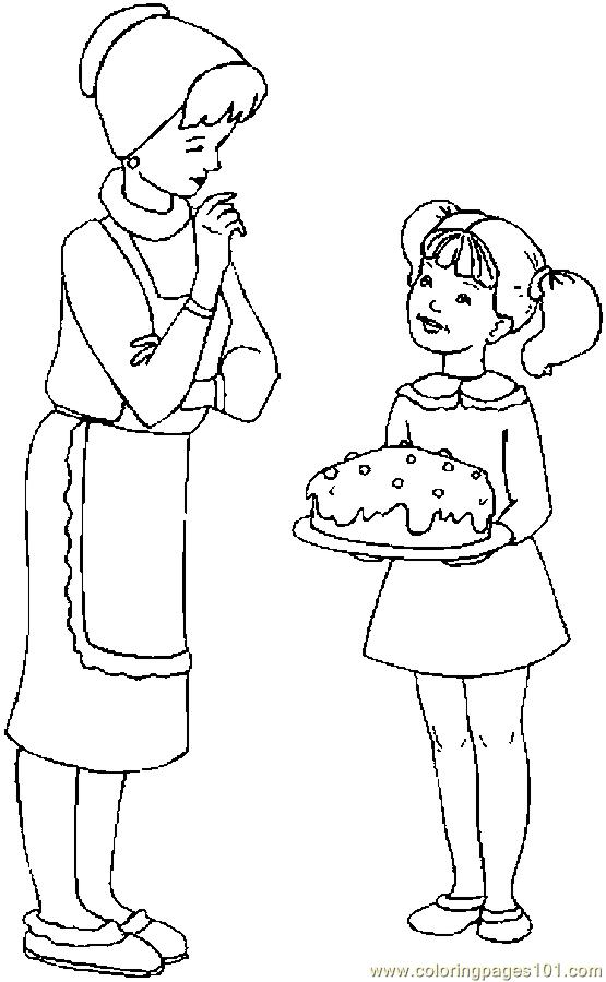 Mother Cooking Coloring Pages