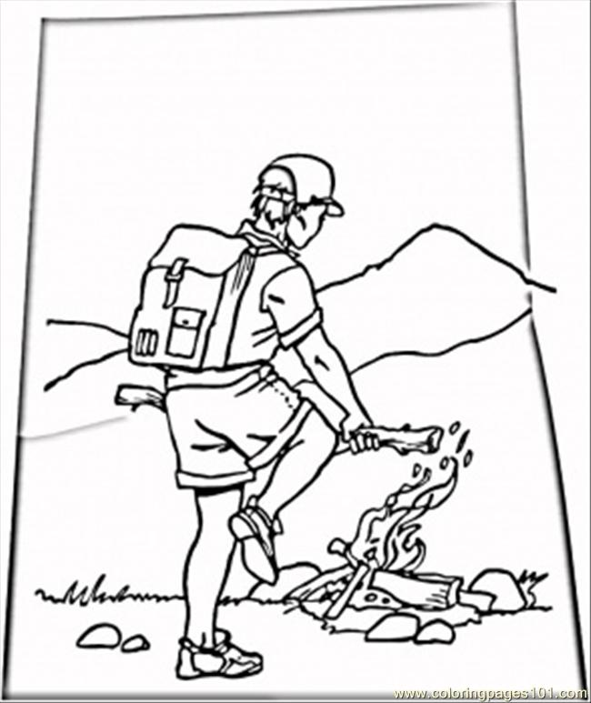 coloring pages camp natural world mountain free printable coloring page online