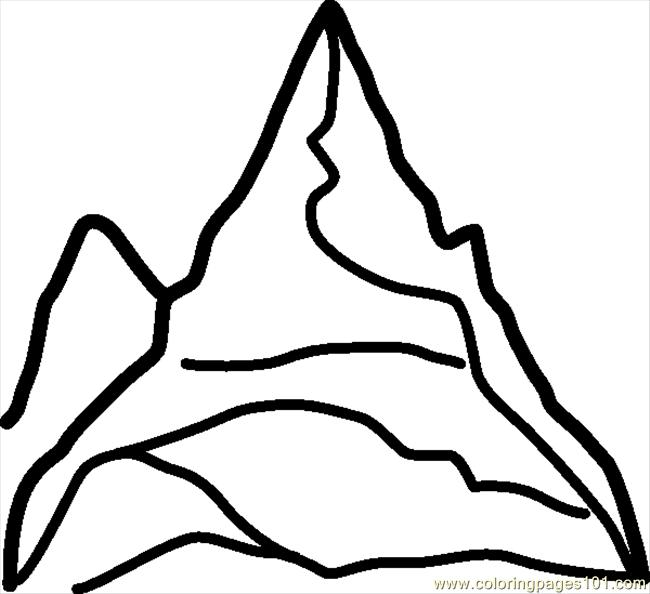 coloring pages dijz natural world mountain free printable coloring page online