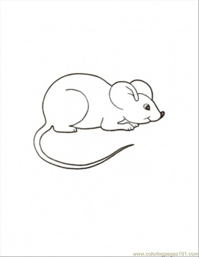 Free Coloring Pages Of Mouse Paint