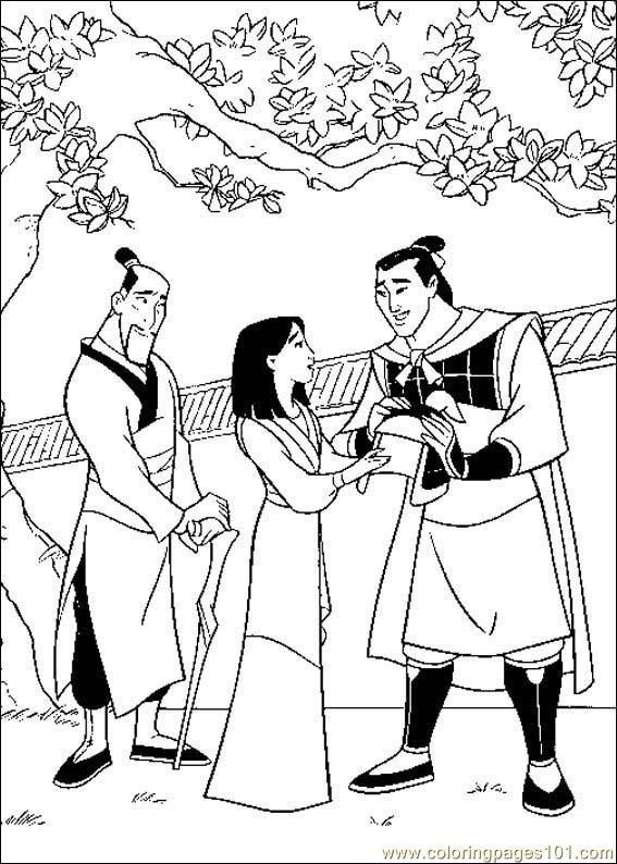 Mulan Coloring Pages Pdf : Coloring pages mulan cartoons gt free printable