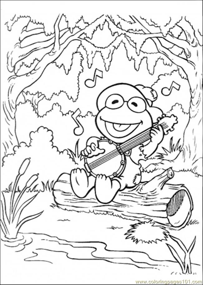 Muppet Babies Kermit The Frog And Miss Piggy Coloring Page
