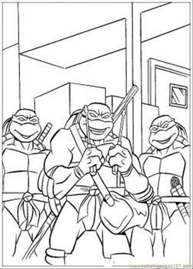 t ninja turtles coloring pages - photo #45