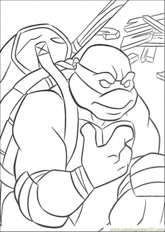 free printable coloring page Donatello (Cartoons > Ninja Turtles)