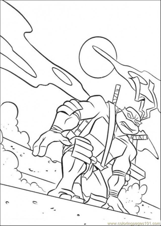 tmnt skating coloring pages - photo#13