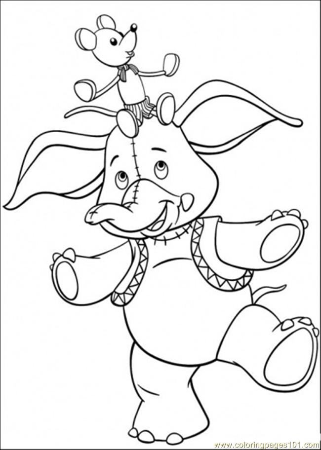 Coloring pages mr jumbo cartoons noddy free for Jumbo coloring pages